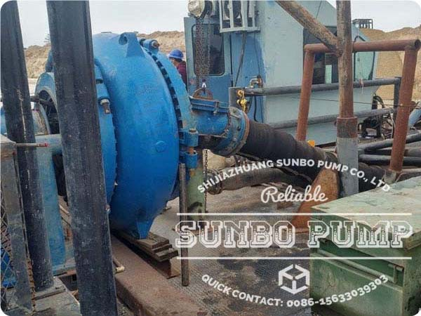 12x10 High Pressure Pump Work in USA Dredging