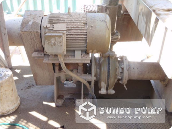 Rubber Lined Slurry Pump working in Canada chemical plant